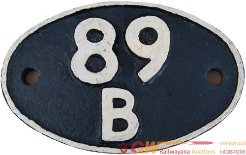 Shedplate 89b Brecon Until November 1959 And Then