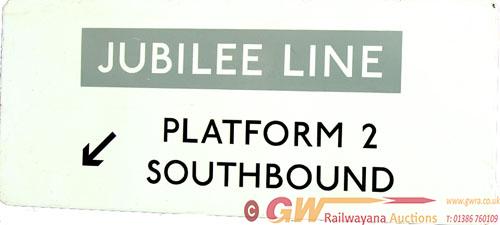 London Transport Flanged Enamel Sign