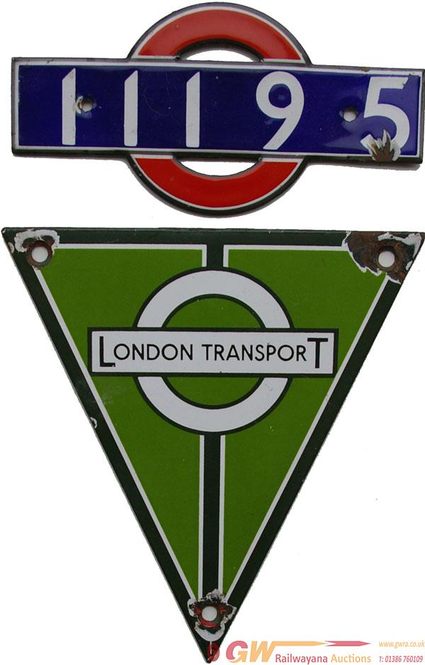 London Transport Enamel Tube Car Number 11195, Red