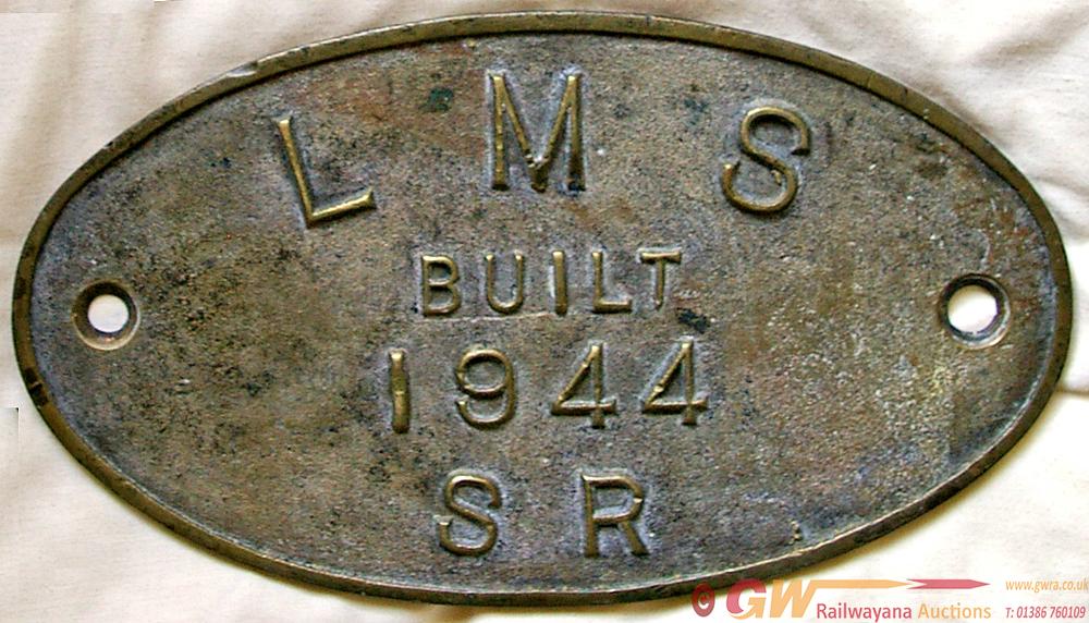 Worksplate, LMS Built 1944 SR, Ex Stanier 8f 2-8-0