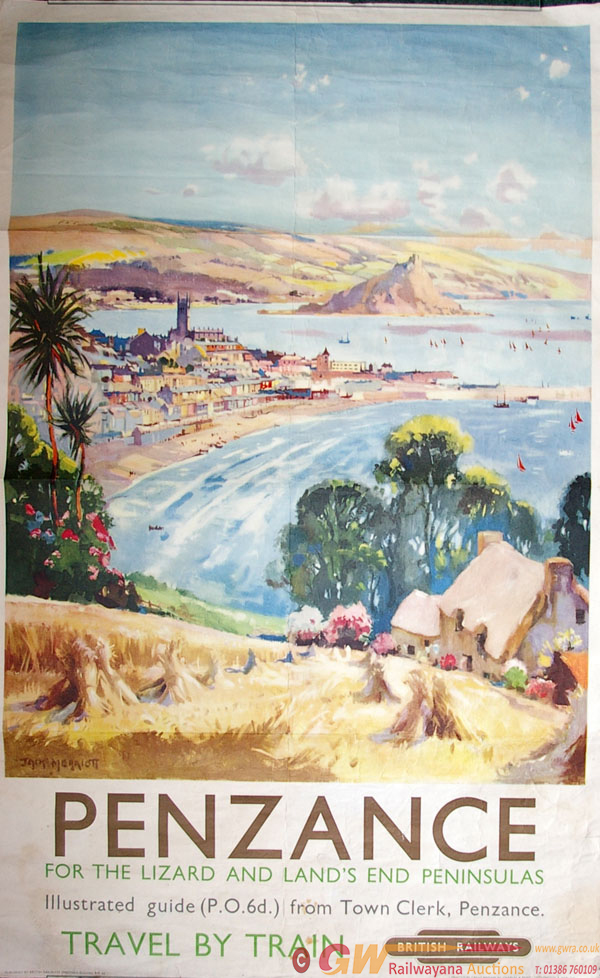 Poster, British Railways (W) D/R 'PENZANCE FOR THE