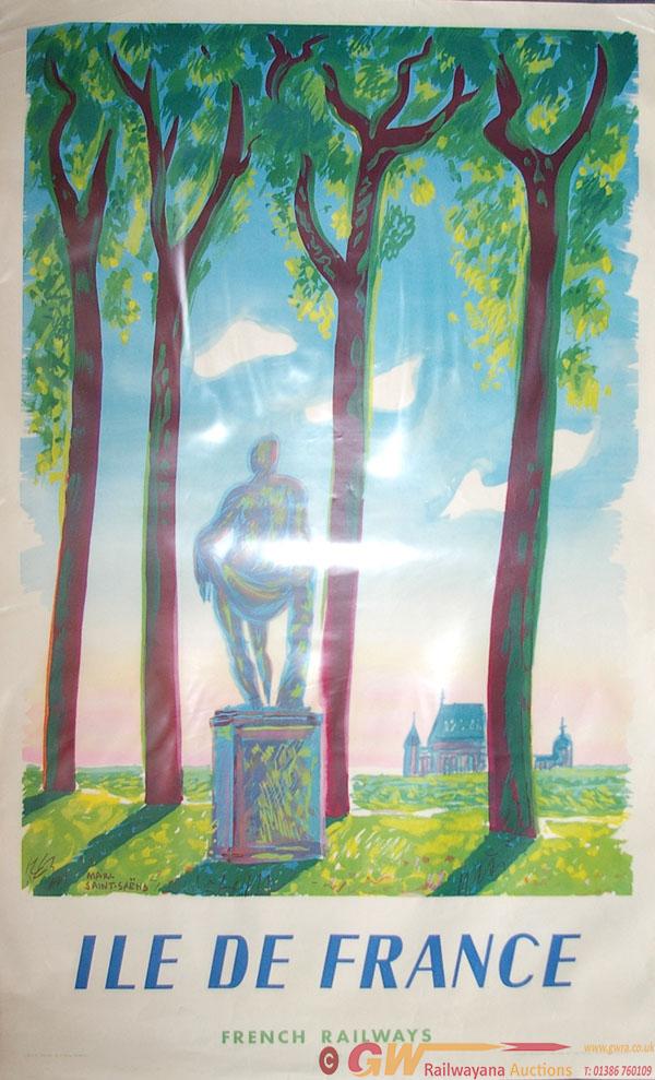 Poster, French Railways 'Ile De France',