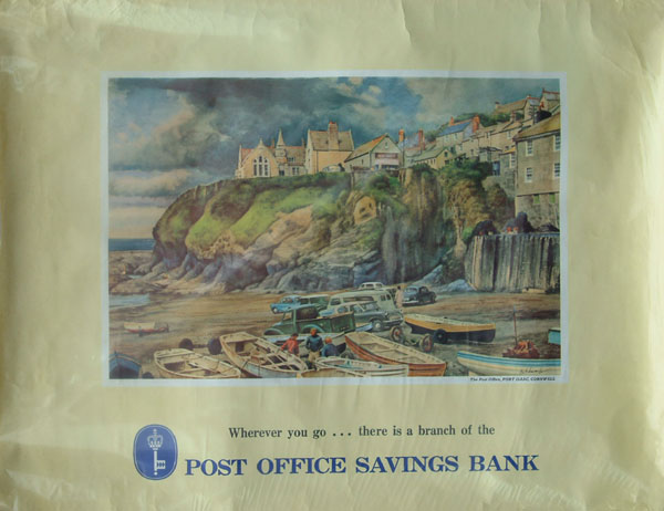Poster, 'Post Office Savings Bank - The Post