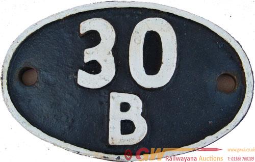 Shedplate 30b Hertford East Until November 1960. A