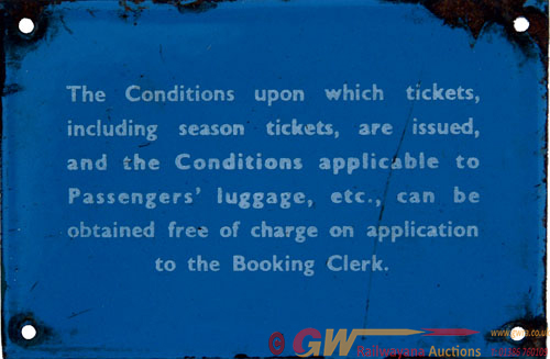 BR(Sc) Enamel Conditions Upon Which Tickets