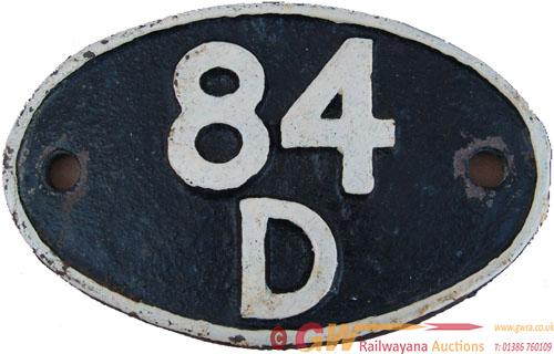 Shedplate 84d Leamington Until September 1963 And