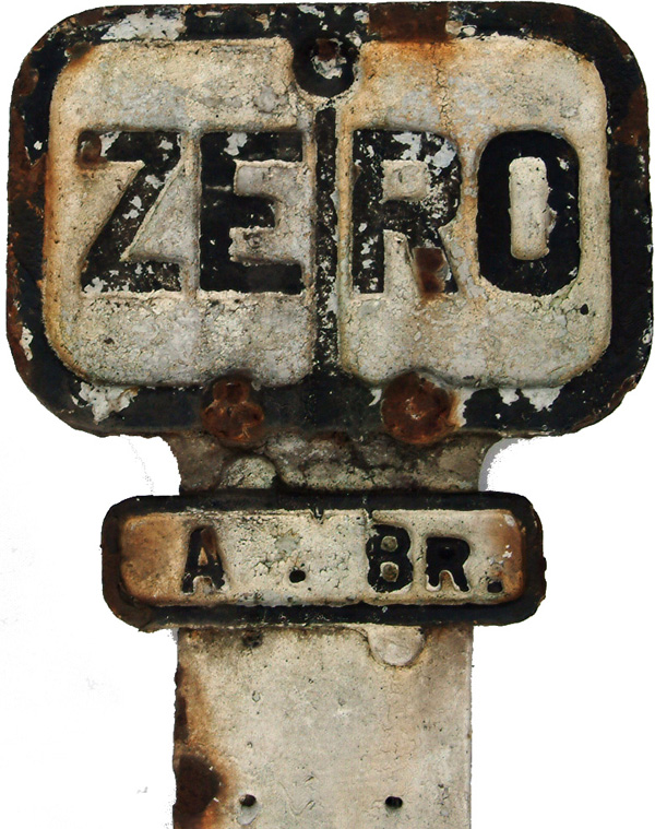 North Eastern Railway Zero Plate, On Its Post With