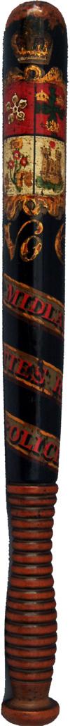 Railway Wooden Police Truncheon, MIDLAND COUNTIES