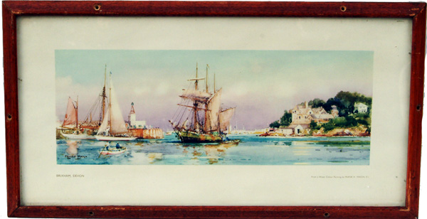 Carriage Print  'Brixham' From A Painting By Frank