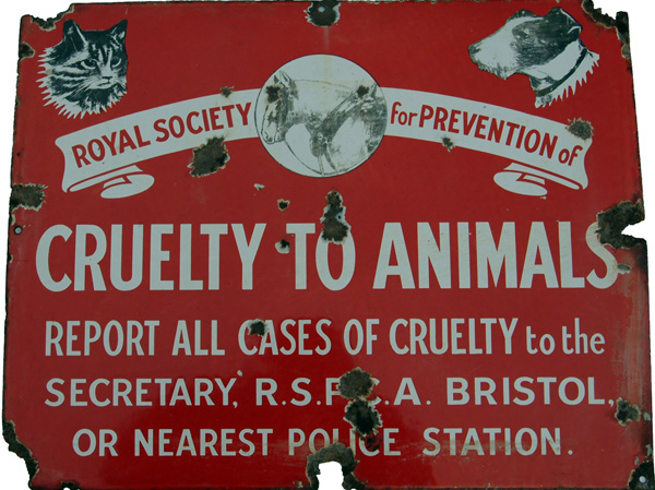 Enamel Advertising Sign, 'Royal Society For