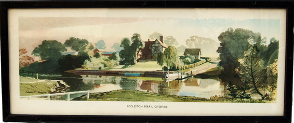 Carriage Print, 'Eccleston Ferry, Cheshire' From A