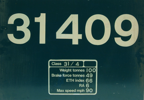 Flamecut Cabside Number Panel 31409. This Loco Was