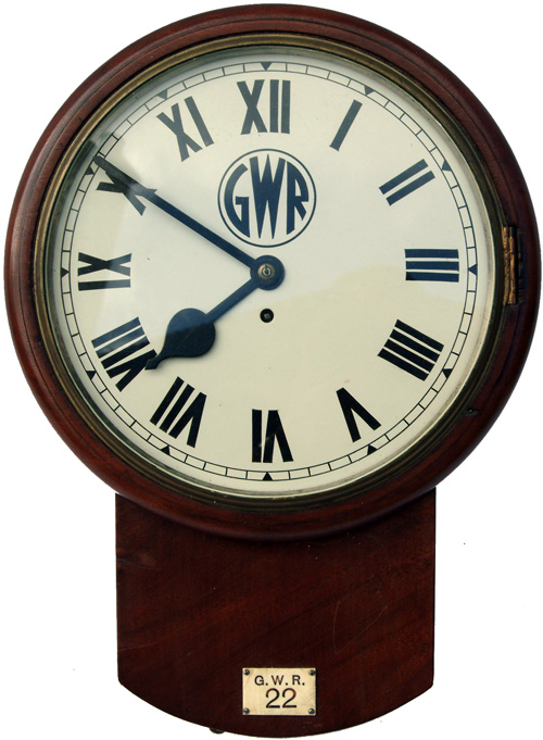 GWR 12  Mahogany Cased, Drop Dial Fusee Clock With