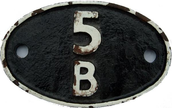 Shedplate 5b, Crewe South Until November 1967.