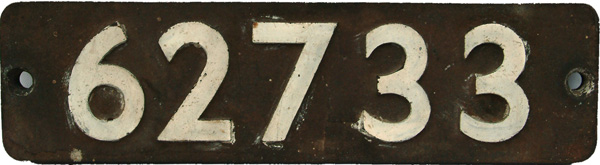 Smokebox Numberplate 62733. Ex LNER d49 'Shire'