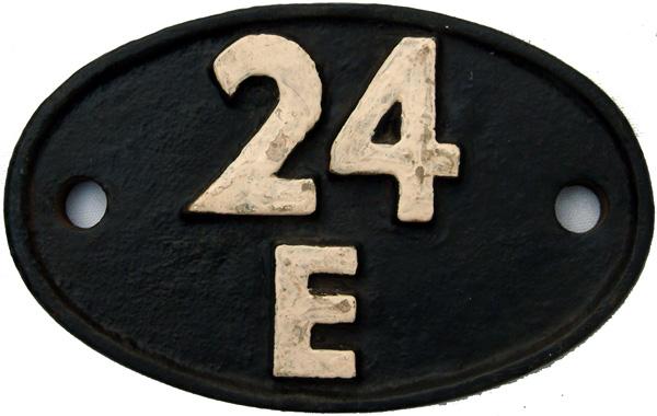 Shedplate 24e, Blackpool Until September 1963. Ex