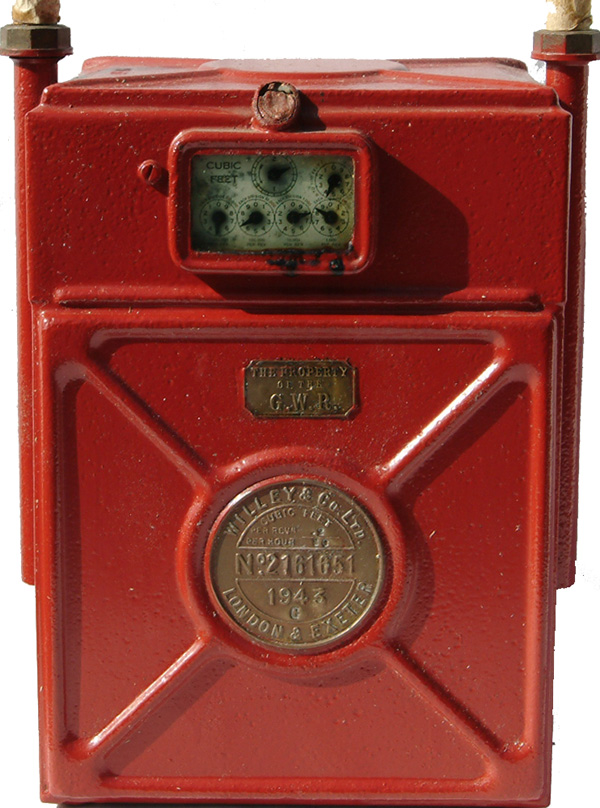 GWR Gas Meter With The Makers Plate 'Willey & Co.,