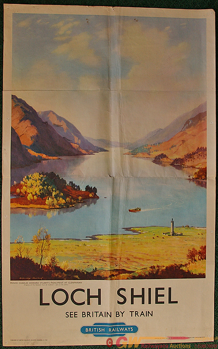 Poster, Loch Shiel By Douglas Macleod, D/R . A