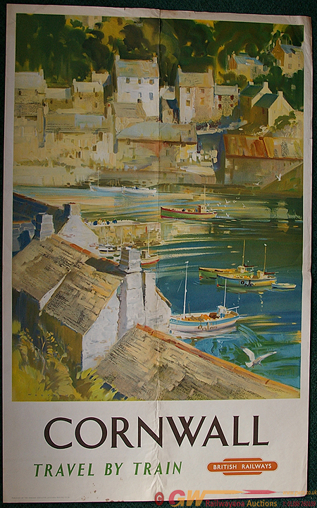 Poster, Cornwall By Henry Wootton (1914-1998),