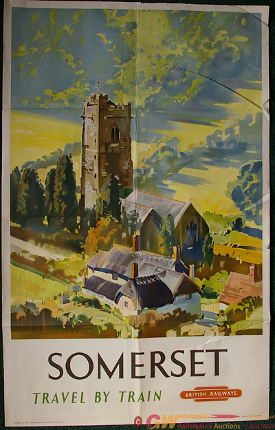 Poster, Somerset By Wootton, D/R. Colourful Vista