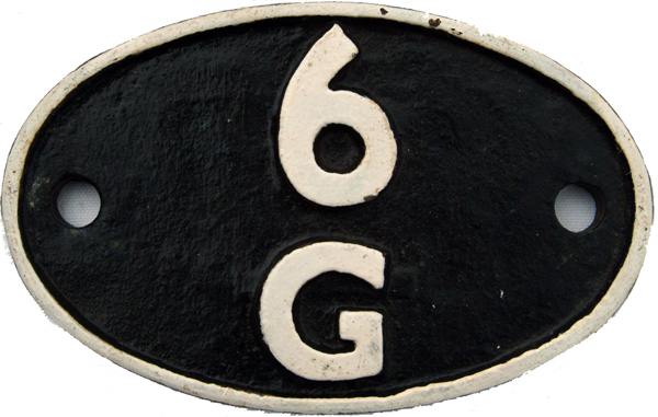 Shedplate 6g, Llandudno Junction From March 1952