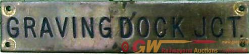 Great Western Railway Brass Instrument  Plate