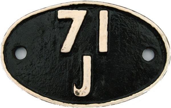 Shedplate 71j, Highbridge From September 1954