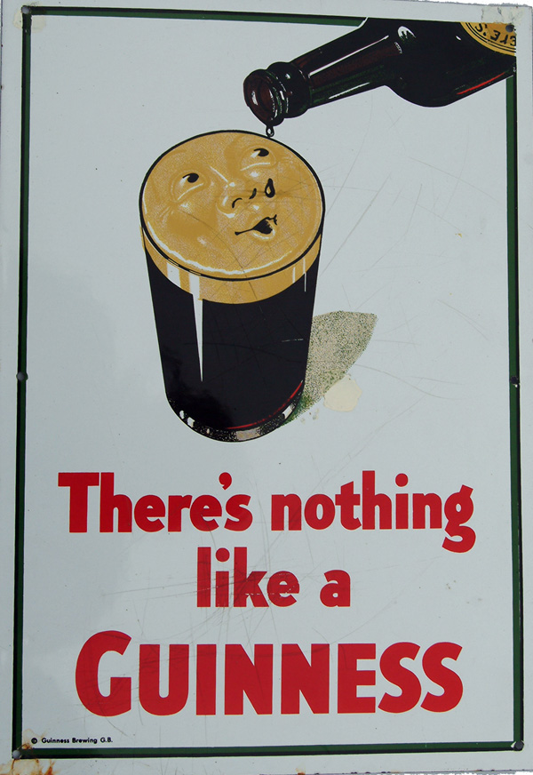 Enamel Advertising Sign, Later Version Of 'There's