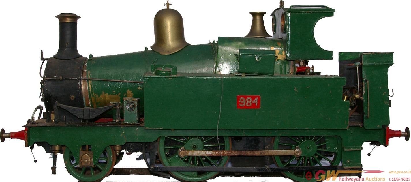 Live Steam, 5 Gauge Locomotive Of GWR Met Tank.