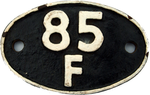 Shedplate 85f, Bromsgrove From February 1958 Until