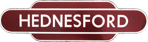 Totem, HEDNESFORD, F/F. Ex LNWR Station Between