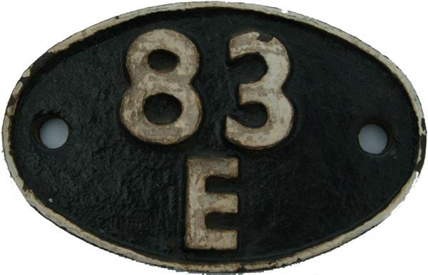 Shedplate 83e, St Blazey From 1948 Until September