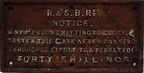 Rhondda And Swansea Bay Railway C/I Gate Notice