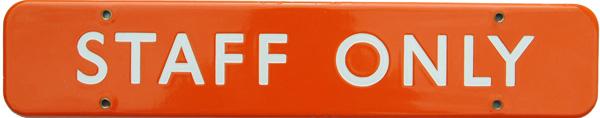BR(NE) Doorplate FF 18 X 3