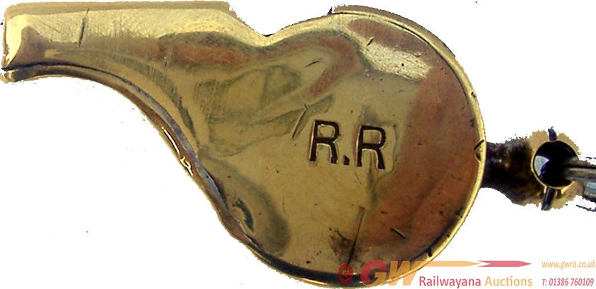 Rhymney Railway Brass Acme Thunderer Whistle,