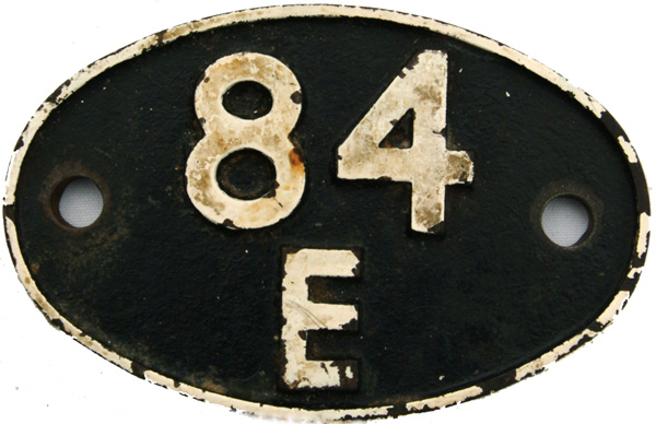 Shedplate 84e, Tyseley From 1948 Until September
