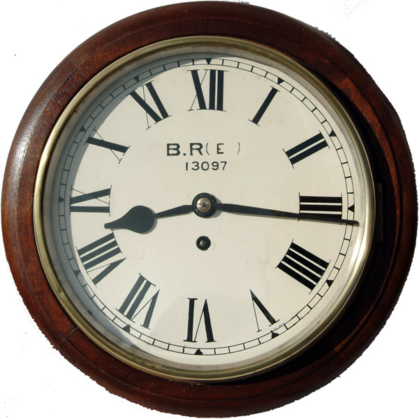 A 10-Inch Mahogany Cased Iron Dial Fusee Clock