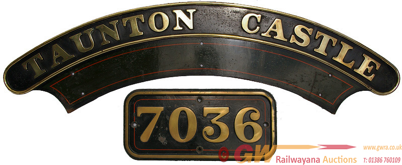 Nameplate TAUNTON CASTLE Together With The