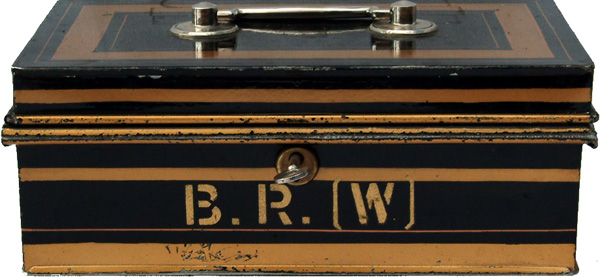 BR(W) Steel Cash Box With 3 Lever Lock With Key,