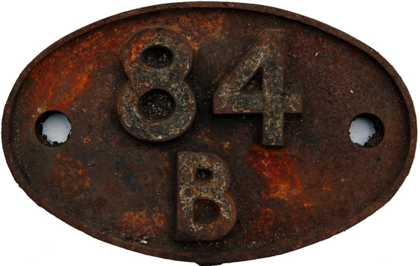 Shedplate 84b, Oxley Until September 1963 And Then