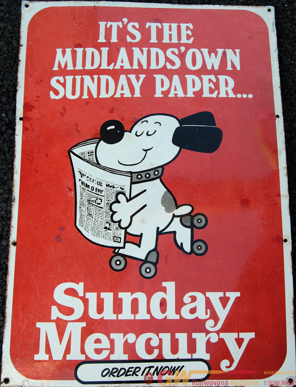 Enamel Advertising Sign, 'It's The Midlands Own