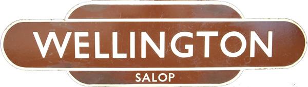 Totem, BR(W) WELLINGTON SALOP, H/F. Ex Shrewsbury