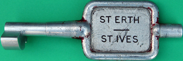 Alloy Key Token, ST ERTH - ST IVES. Ex GWR Branch