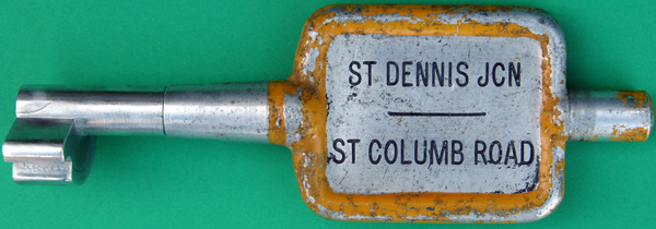 Alloy Key Token, ST DENNIS JCN - ST COLUMB ROAD.