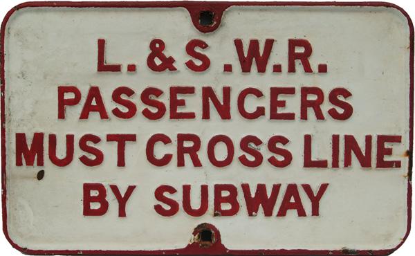 London & South Western C/I Notice 'Passengers