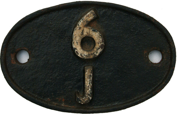 Shedplate 6j, Holyhead From March 1952 Until