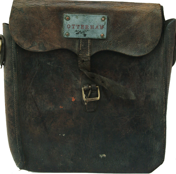 LSWR/SR Leather Document/Cash Bag Bearing Alloy
