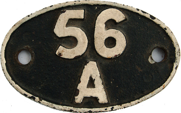 Shedplate 56a, Wakefield From September 1956 Until
