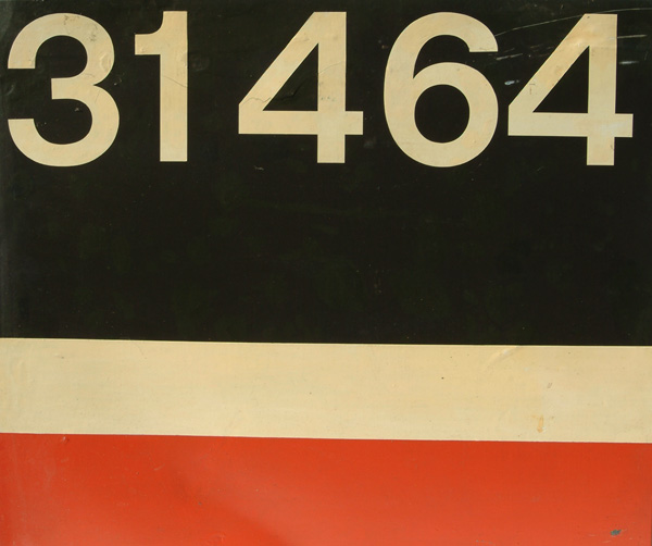 Flamecut Cabside Number Panel 31464. This Loco Was