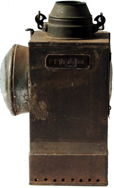LSWR Signal Lamp Interior Plated OTTERHAM. Also